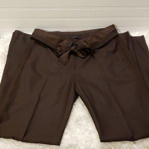 Elie Tahari 100% Wool Brown Pants